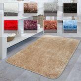 Hochflor Badematte Einfarbig Rutschfest Badezimmer Versch. Farben u. Größen – Bild 1