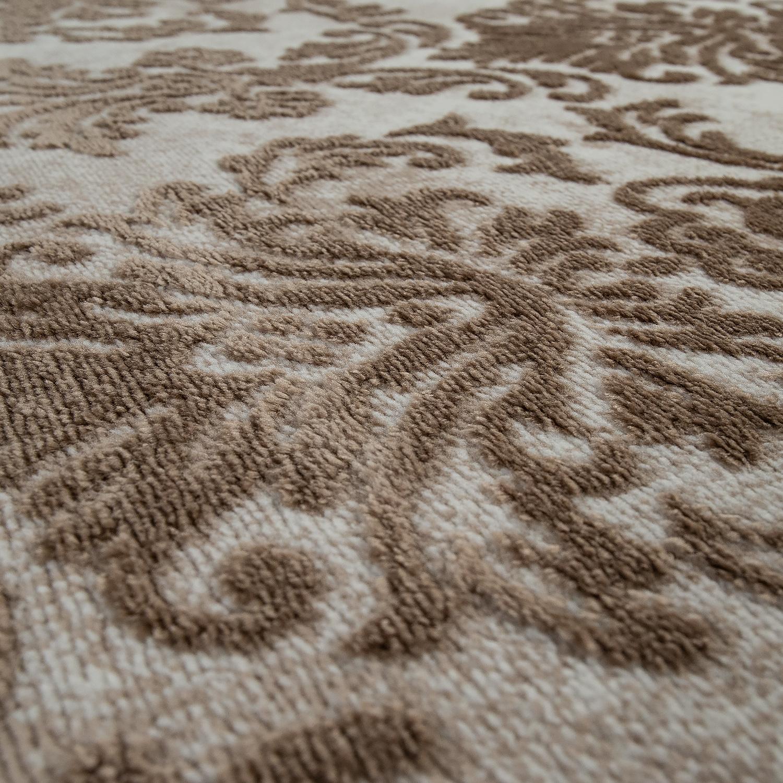 Orient Teppich sand Wohnzimmer 3-D Design Marokkanisches Muster Weich