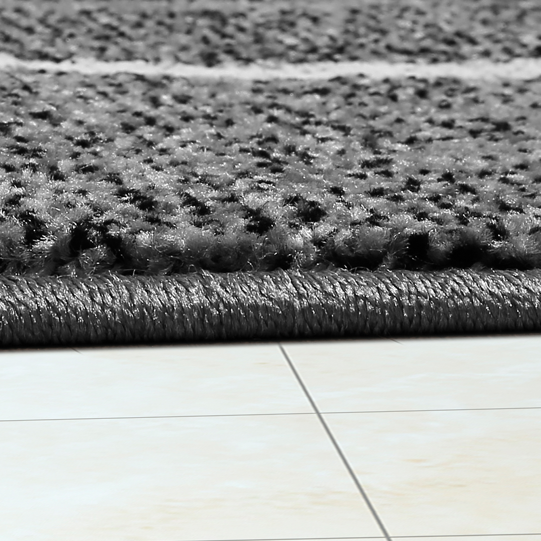 moderner wohnzimmer teppich matrix design kurzflor meliert grau anthrazit creme moderne teppiche. Black Bedroom Furniture Sets. Home Design Ideas