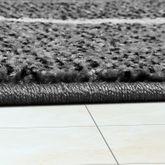 Moderner Wohnzimmer Teppich Matrix Design Kurzflor Meliert Grau Anthrazit Creme – Bild 3