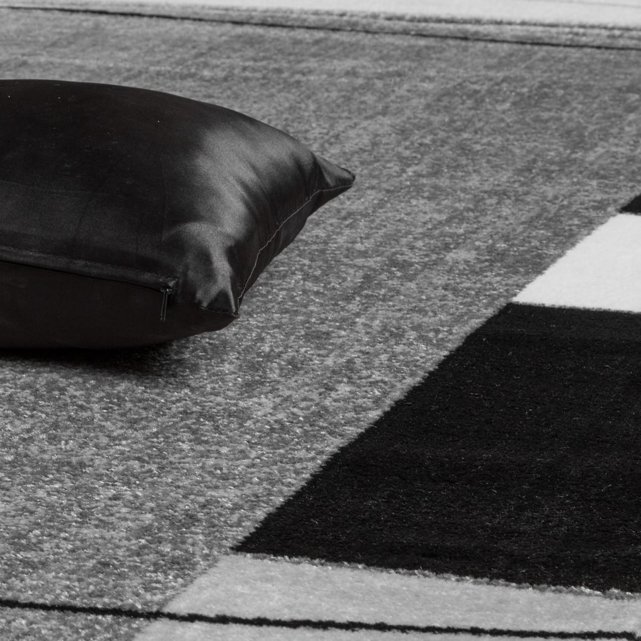 teppich g nstig bord re design modern wohnzimmerteppich grau schwarz top preis moderne teppiche. Black Bedroom Furniture Sets. Home Design Ideas