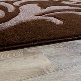Designer Teppich Wohnzimmerteppich Levante Modern mit Floral Muster Braun Beige – Bild 3
