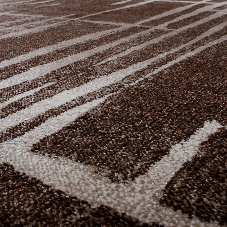 moderner wohnzimmer teppich matrix design kurzflor meliert braun beige creme moderne teppiche. Black Bedroom Furniture Sets. Home Design Ideas