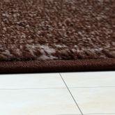 Moderner Wohnzimmer Teppich Matrix Design Kurzflor Meliert Braun Beige Creme – Bild 3