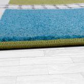Kinderzimmer Teppich Mit Design City Hafen Stadt Straßen Spielteppich In Grün  – Bild 3