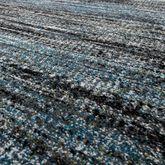 Designer Teppich Blau Modern Kurzflor Multicolor – Bild 2