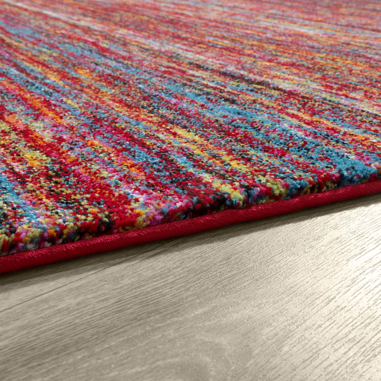Designer Teppich Multicolour Modern Kurzflor Bunt Meliert U2013 Bild 3