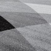 Designer Teppich Grau Meliert Kurzflor Modern Geschwungen Optik Hochwertig – Bild 2