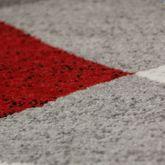 Designer Teppich Rot Meliert Kurzflor Modern Geschwungen Optik Hochwertig – Bild 2