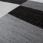 Designer Teppich Grau Meliert Kurzflor Modern Kariert Optik Hochwertig – Bild 2