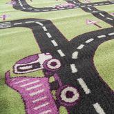 Kinderteppich Teppich Kinderzimmer Spielteppich Straßen Muster Grün AUSVERKAUF – Bild 2