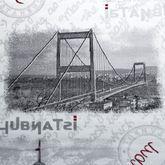 Teppich Modern Istanbul Bosporus Brücke Motiv Teppich Istanbul Design Grau Creme – Bild 2