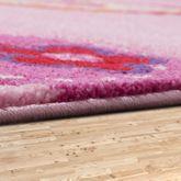 Kinder Teppich Schmetterling Design Konturenschnitt Kinderzimmer Pink Lila – Bild 3