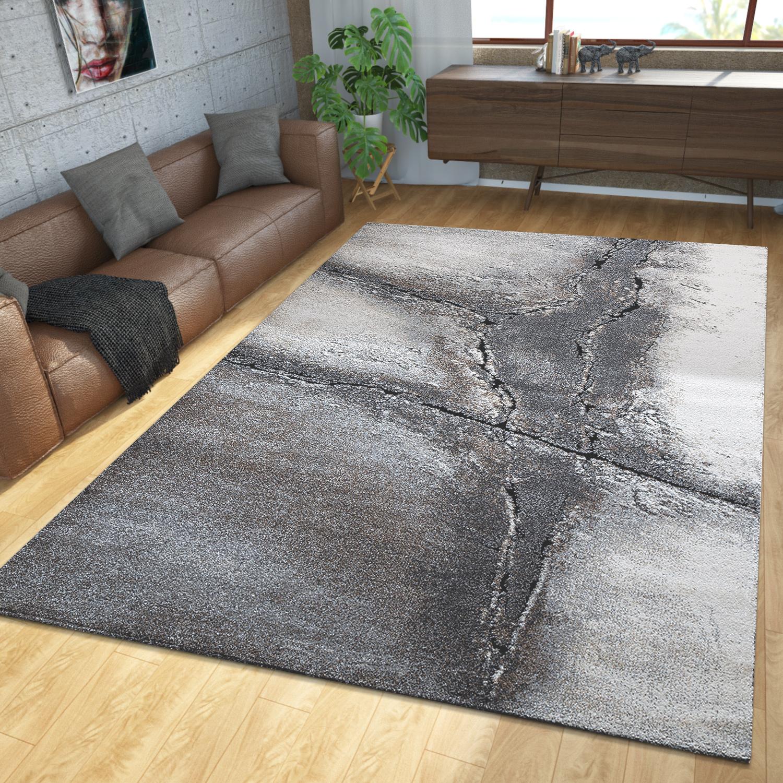 teppich modern edel konturenschnitt natur holz stamm design braun