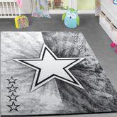 Kinder Teppich Jugend Teppich Modern Stern Design Kinderzimmer Teppich In Grau – Bild 1