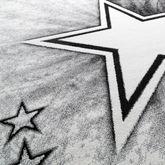 Kinder Teppich Jugend Teppich Modern Stern Design Kinderzimmer Teppich In Grau – Bild 2