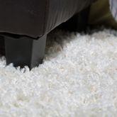 Moderner Hochflor Teppich Karo Muster Shaggy Zottel Teppiche Grau Weiß Grün – Bild 2