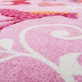 Kinder Teppich Pferde Design Konturenschnitt Kinderzimmer Teppiche Pink Lila – Bild 2