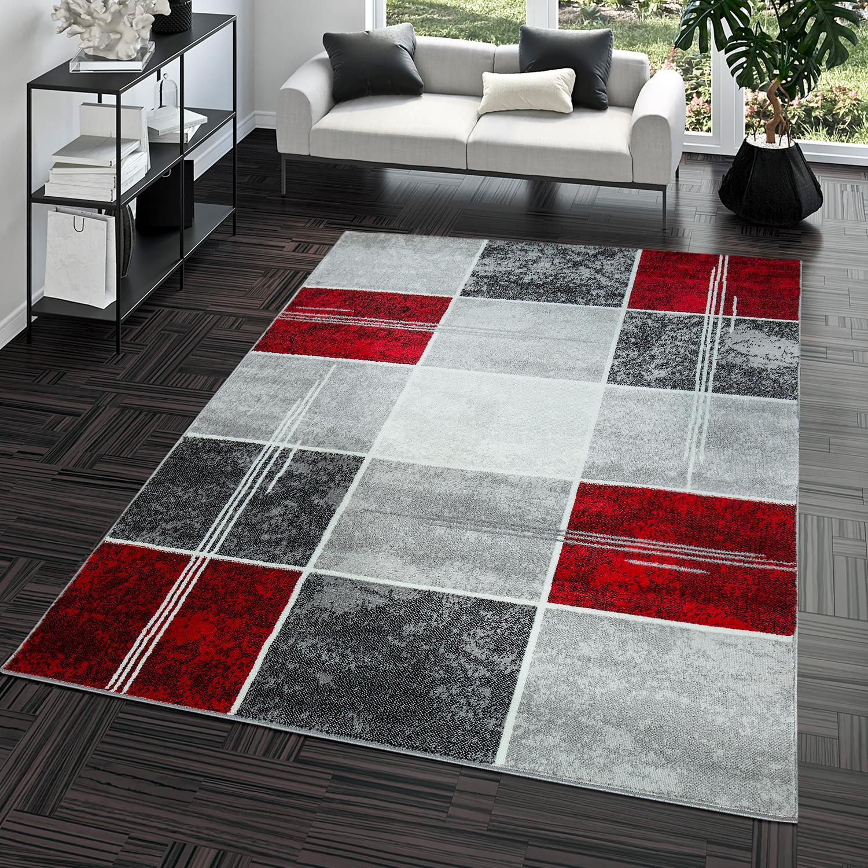 teppich g nstig karo design modern wohnzimmerteppich grau. Black Bedroom Furniture Sets. Home Design Ideas