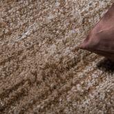 Teppich Modern Preiswert Bordüre Halbkreis Meliert Wohnzimmerteppich Braun Beige – Bild 2