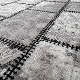Teppich Modern Wohnzimmer Teppich Ornamente Abstrakt Preiswert Meliert Grau  – Bild 2