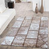 Teppich Modern Wohnzimmer Teppich Ornamente Abstrakt Preiswert Meliert beige – Bild 1