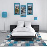 Shaggy Läufer Bettumrandung Hochflor Teppich Karo Muster Versch. Farben 3er Set – Bild 12