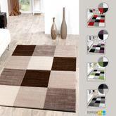Designer Teppich Preiswert Lugo Modern Mit Karo Muster In Verschied. Farben – Bild 1