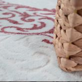 Teppich Modern Hoch Tief Struktur Wellen Glitzergarn Barock Vintage Pink Creme – Bild 2