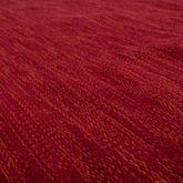 Handwebteppich Wohnzimmer Natur Webteppich Kelim Modern Baumwolle In Rot – Bild 2