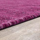 Handwebteppich Wohnzimmer Natur Webteppich Kelim Modern Baumwolle In Lila – Bild 3