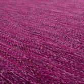 Handwebteppich Wohnzimmer Natur Webteppich Kelim Modern Baumwolle In Lila – Bild 2