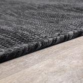 Handwebteppich Wohnzimmer Natur Webteppich Kelim Modern Baumwolle In Grau – Bild 3