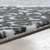 Teppich Modern Glitzergarn Vintage Mit Rokoko Muster Edel In Rosa Grau Weiß – Bild 3