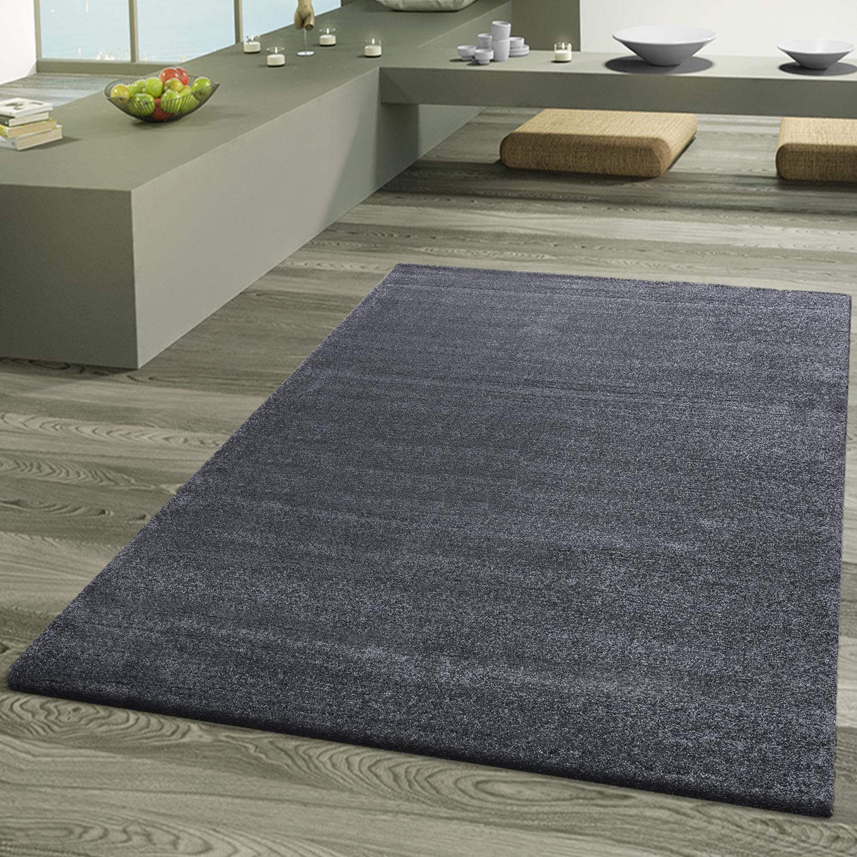 teppich wohnzimmer designer teppiche hochwertig frieze schimmer optik anthrazit moderne teppiche. Black Bedroom Furniture Sets. Home Design Ideas