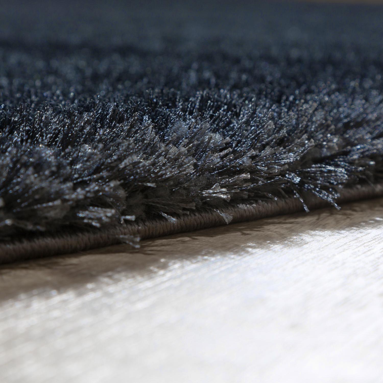 teppich wohnzimmer hochflor teppiche modern elegant weich schimmer uni anthrazit hochflor teppich. Black Bedroom Furniture Sets. Home Design Ideas