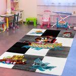 Kinderteppich Kinderzimmer Pirat Design Mit Grau Schwarz Creme AUSVERKAUF
