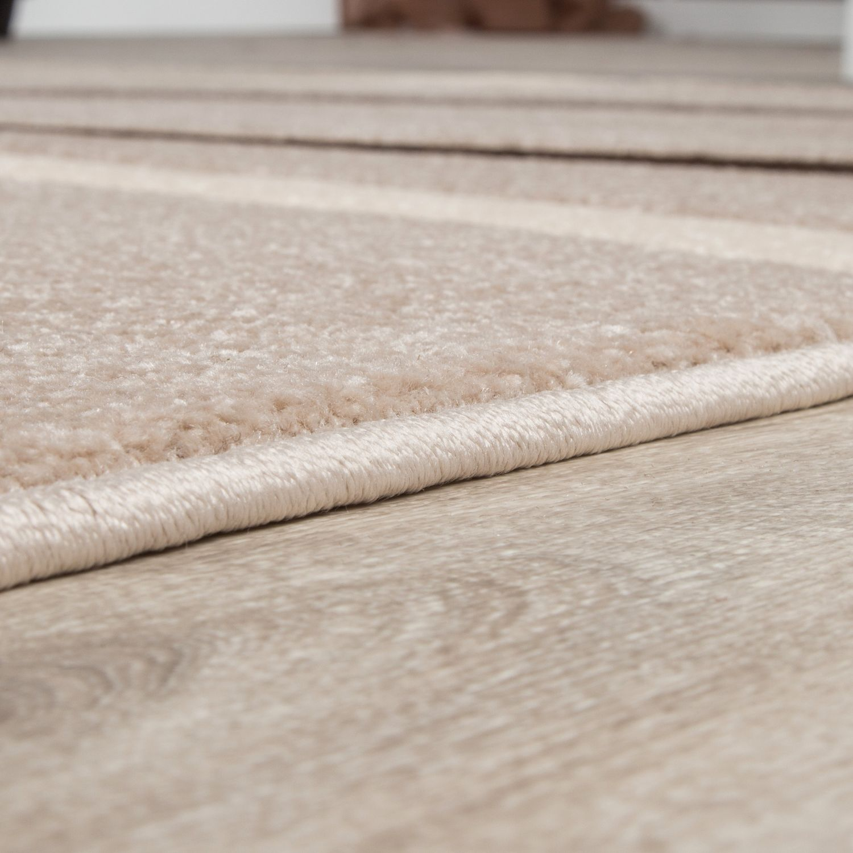 kurzflor wohnzimmer teppich modern spiralen muster beige braun mocca ausverkauf moderne teppiche. Black Bedroom Furniture Sets. Home Design Ideas