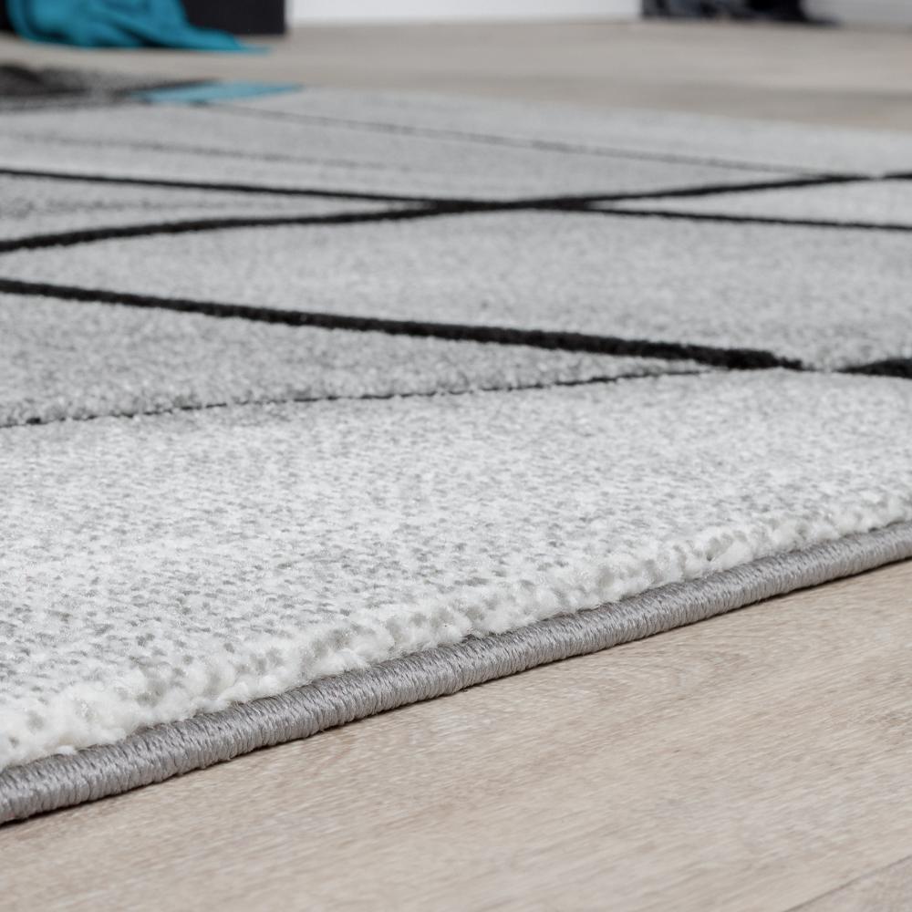 teppiche wohnzimmer teppich porto konturenschnitt t rkis grau schwarz ausverkauf sales. Black Bedroom Furniture Sets. Home Design Ideas