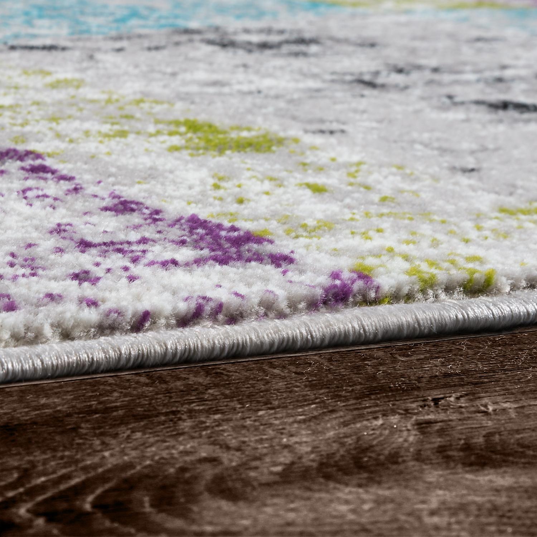 Teppich Modern Preiswert Wohnzimmer Teppiche Kariert Style Grün Türkis Lila  Weiß U2013 Bild 3