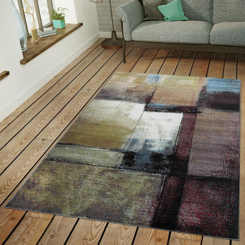 Teppich Modern Wohnzimmer Industrie Look Kurzflor Außergewöhnlich ...