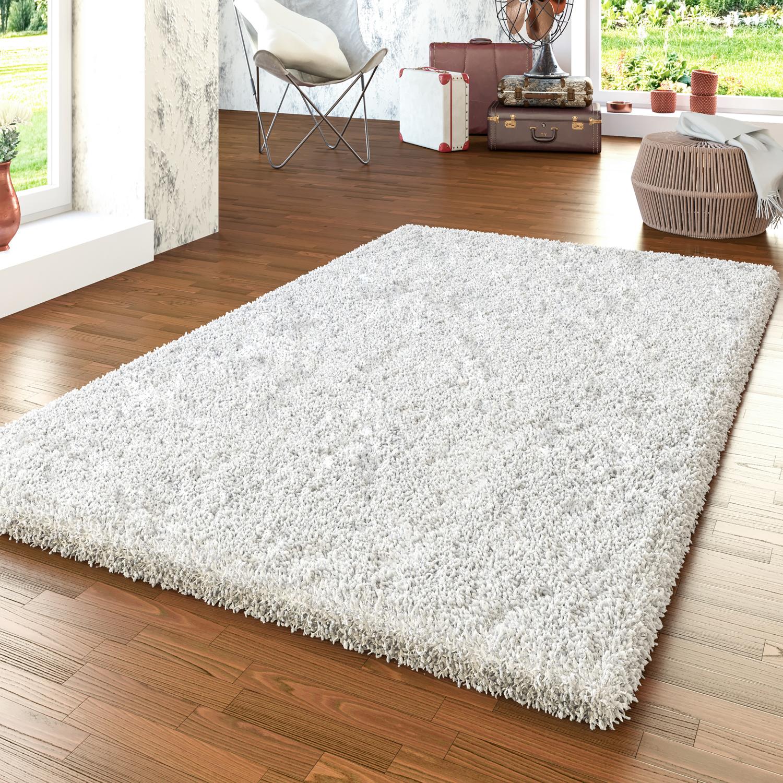 shaggy teppich modern hochflor uni wohnzimmer kuschelig