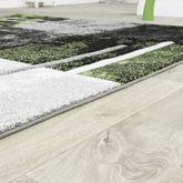 Moderner Teppich Wohnzimmer Milano mit Konturenschnitt in Grün Schwarz Grau SALE – Bild 3