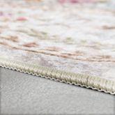 Wohnzimmer Teppich Orient Teppiche Print Design Blumenmuster Pastell Rosa Multi – Bild 2