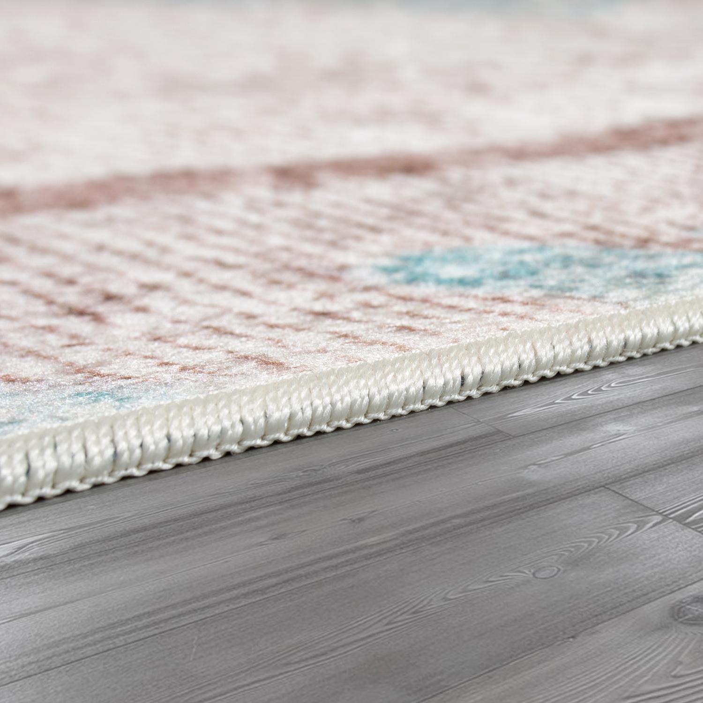 Wohnzimmer Teppich Orient Teppiche Print Design Bordure Pastell In
