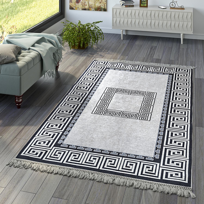 Wohnzimmer Teppich Orient Teppiche Print Design Bordure Versace