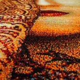 Orientalischer Teppich Meliert Gabbeh Kurzflor Multifarben Frau mit Henna Hand Rot – Bild 2
