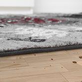Klassischer Orientteppich Kurzflor Wohnzimmer Ornamente In Rot Grau Anthrazit – Bild 3