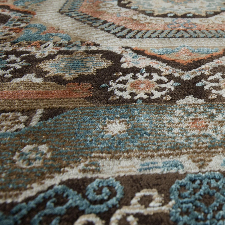 Teppich Orientalisch Hochwertiger Flachflor Antik Optik In Braun ...