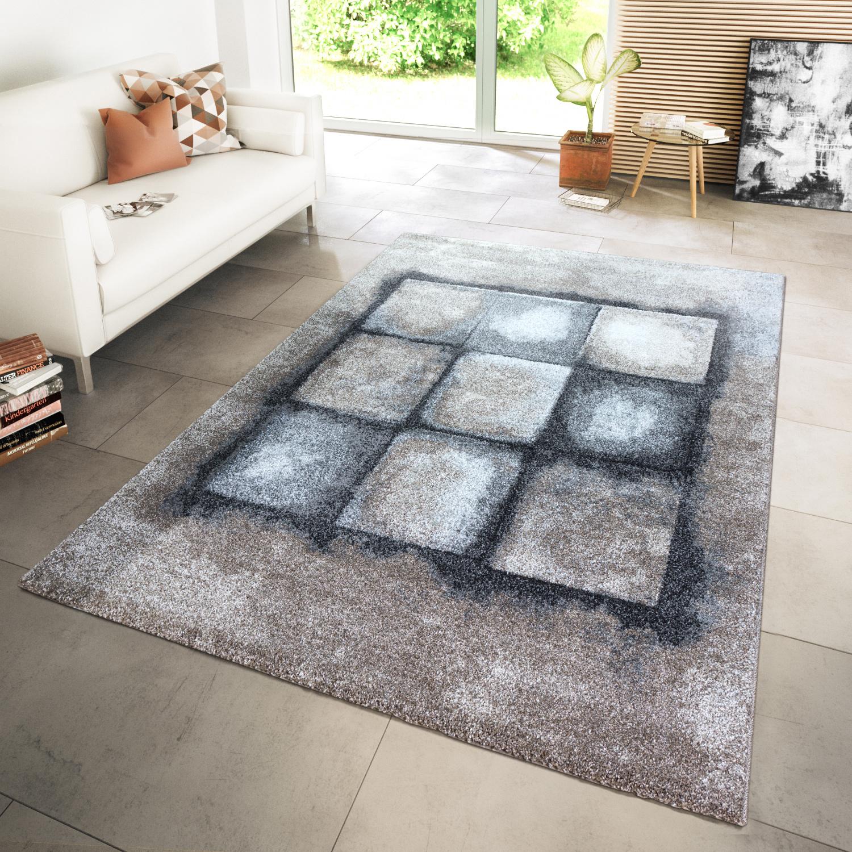 Teppich Modern Abstrakt Beige Grau